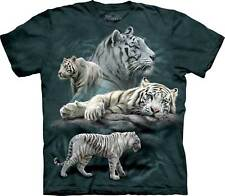 """The Mountain Kinder T-Shirt """"White Tiger Collage"""""""