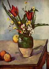 Paul Cezanne: Still Life, Tulips and Apples. Art Print/Poster (4210)