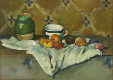 Paul Cezanne: Still Life with Jar, Cup, and Apples. Fine Art Print/Poster (4215)