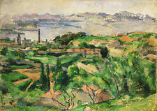 Paul Cezanne: View of the Bay of Marseille. Art Print/Poster (4244)