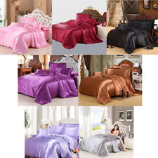 Luxury Smooth Satin Silky Bed Bedding Duvet Cover Set-Twin/Queen/Cal-King/King