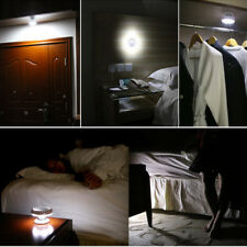 Adhesive Rotating Magnetic UFO Motion and Light Sensor LED Lamp Bed Night Light