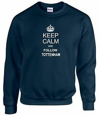 KEEP CALM AND FOLLOW TOTTENHAM DIVERTIDA SUDADERA TODAS LAS TALLAS DISPONIBLES
