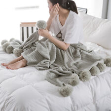 Soft Knitted Cotton Air Conditioning Blanket Kids Baby Double-faced Throw