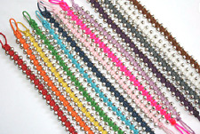 NEW HANDMADE BEADED SURFER FRIENDSHIP BRACELET / ANKLET UNISEX MIXED COLOURS