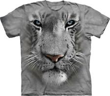 """The Mountain Kinder T-Shirt """"White Tiger Face"""""""