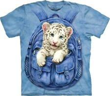 """The Mountain Kinder T-Shirt """"Backpack White Tiger"""""""