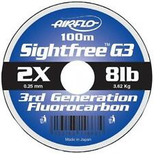 Airflo Sightfree G3 Fluorocarbon 100 metres Fly & Salmon Fishing Clear Line