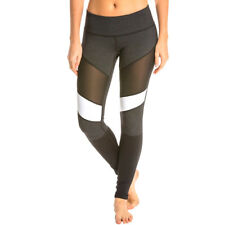 Fashion Women Stretch See Through Yoga Pants with Mesh Gym Fitness Pants