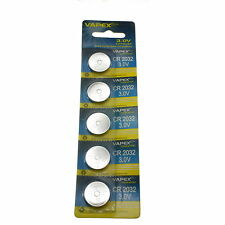 5/10/20/50/100 VapexTech CR2032 3V Lithium Watch Button/Coin Cells CMOS Battery