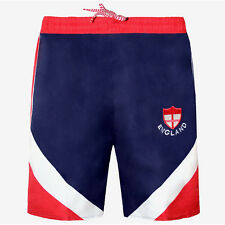 Men's England Word Cup Shorts Football Rugby Gym Running Swimming Summer S-XL