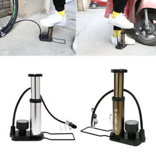 High Pressure Foot Activated Bicycle Floor Pump Motorcycle Ball Pump with Gauge