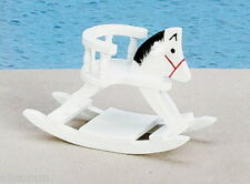 White Rocking Horse w/Seat Dollhouse Miniature 1:12 Scale New