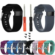 Black Replacement Wristband Band Strap Tool Kit for Fitbit Charge HR Small/Large
