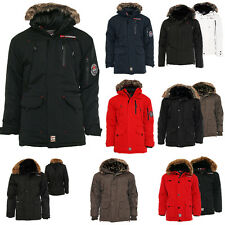 Geographical Norway caldo Giacca Uomo Mantella Invernale Outdoor Parka 5 Mod. ✔