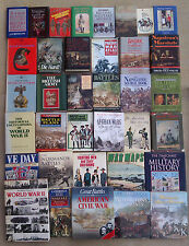 MILITARY HISTORY, BATTLES, WARS & UNIFORMS - SELECTION OF BOOKS.