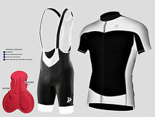 Men's Cycling  Half Sleeve Jersey Top Racing Biking & Gel Padded Bib shorts set