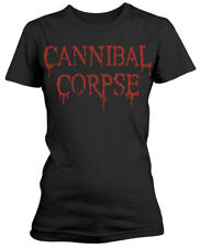 CANNIBAL CORPSE 'Dripping Logo' Womens Fitted T-Shirt - Nuevo y Oficial