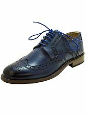 Scarpa Classica Blu-Derby Brogue-Vera Pelle-Made in Italy MainApps