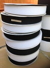 50mm Hook and Loop Sew On  Black or White Fastening Tape