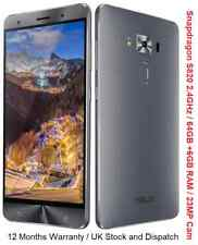 """Asus Zenfone 3 Deluxe 64GB 5.7"""" Snapdraogn S820 2.4GHz CPU 23MP Camera ZS570KL"""