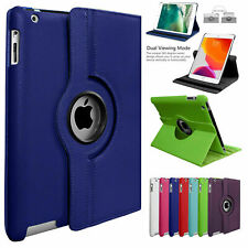 High Quality Apple iPad 2 3 & 4 Leather 360° Rotation Smart Stand Hard Cover