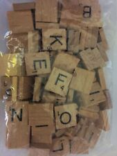 Wooden Scrabble Individual Tiles Letters Numbers For Crafts Alphabet Game Wood