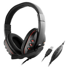 Stereo Headphones Lightweight Over-ear New with Mic for PS3 PS4 PC