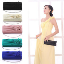 Women Satin Party Prom Clutch Wedding Bridal Evening Handbag Women Bag Purse