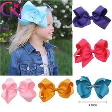 Large Grosgrain Ribbon Bow With Clip Big Hair Accessorie For Girls Kids UK Stock