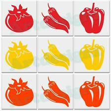 PEPPER Tile Stickers Kitchen Chilli Tomato Vinyl Wall Art Decal Transfer AD99