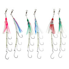 Luminous Fishing Lures Rig Lures 4 Hooks Lures Artificial Hairtail Lures