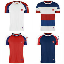 Men's England Football Footy Rugby T-Shirt Top World Cup Gym Three Lions M L XL