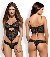 OBSESSIVE Alluria Luxury Super Soft Lace Underwired Body / Teddy