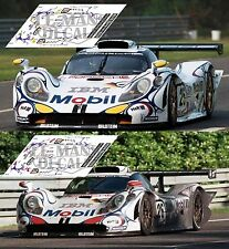 Calcas Porsche 911 GT1 98 Le Mans 1998 25 26 1:32 1:43 1:24 1:18 slot decals