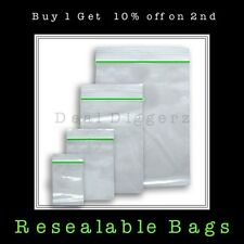 Small Clear Resealable Plastic Bags Baggies Baggy Polythene Grip Seal 50mm x60mm