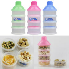 Portable Baby Infant Feeding Milk Powder&Food Bottle Container 4 Cells Grid Boxs