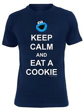 Sesame Street Keep Calm T-Shirt female blue