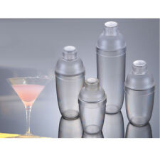 Plastic Cocktail Shaker Mixer Drink with Measurement Scale Bar Tool 4 Sizes