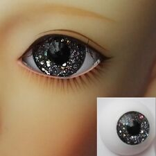 Glitter Dark Grey - BJD Eyes - 8mm 10 12 14 16 18 20 22 MSD SD13/10 Doll Dollfie