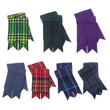 Scottish Kilt Sock Flashes various Tartans/Highland Kilt Hose Flashes pointed*