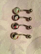 *** BRAND NEW STAINLESS STEEL HELLO KITTY BELLY BARS - 4 DESIGNS - FREE P&P ***