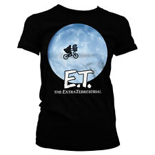 Officially Licensed E.T. Bike In The Moon Women T-Shirt S-XXL Sizes