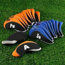 10 Pcs/Set Golf Club Iron Headcovers Numbered Golf Head Cover Travelling Protect