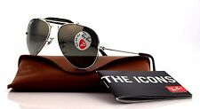 RARE POLARIZED New Authentic RAY-BAN Aviator Leather Sunglasses RB 3422 Q 003/M8