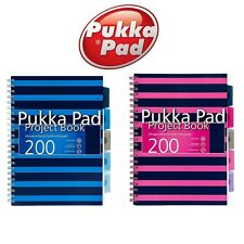 A4 5 Part Subject Notebook 200 Page Student Office Project Note Pad Book - Pukka
