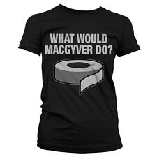 Officially Licensed MacGyver- What Would MacGyver Do? Women T-Shirt S-XXL Sizes
