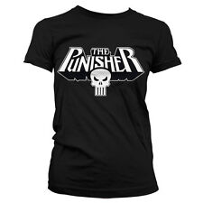 Officially Licensed Marvel Comics- The Punisher Logo Women T-Shirt S-XXL Sizes