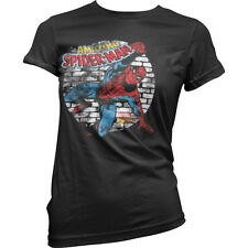 Officially Licensed Marvel Comics- Distressed Spider-Man Women T-Shirt (S-XXL)