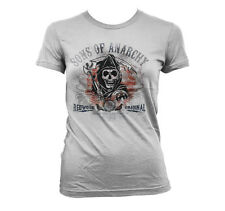 Officially Licensed Sons of Anarchy Distressed Flag Women T-Shirt S-XXL Sizes